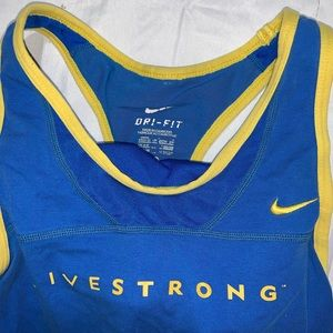 Nike Dri Fit Live Strong Running Tank With Bra